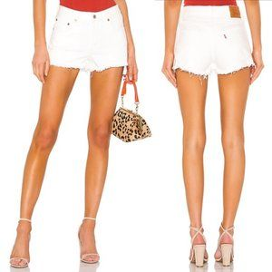 Levi's 501 Frayed Denim Short Pearly White 27